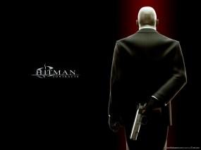 Обои Хитмен прячет пистолет: Пистолет, Hitman, Хитмэн, Hitman Contracts, Hitman