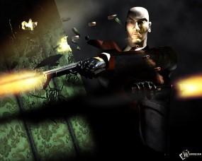 Обои Хитмен стреляет из укрытия: , Hitman