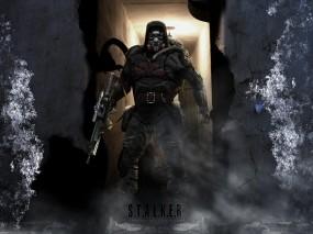 Обои Сталкер долговец: Автомат, Сталкер, Stalker, Противогаз, S.T.A.L.K.E.R