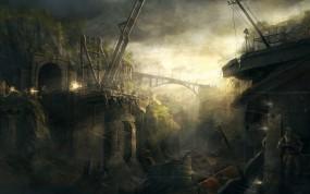 Обои Сталкер: Мост, Сталкер, Бой, Перестрелка, S.T.A.L.K.E.R