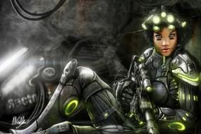 Обои StarCraft II: Девушка, Старкрафт, StarCraft, StarCraft