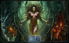 Обои StarCraft 2: StarCraft, Королева Зергов, Сара Керриган, StarCraft