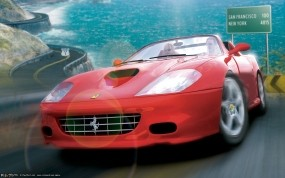 Обои OutRun 2006: Ferrari, Out Run, Авто из игр