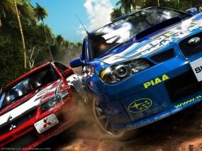 Обои Sega Rally: Субару, Ралли, Sega Rally, Митсубиси, Авто из игр