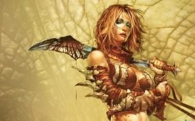 Обои Golden Axe: Beast Rider: Кровь, Меч, Кости, Телка, Девушки из игр