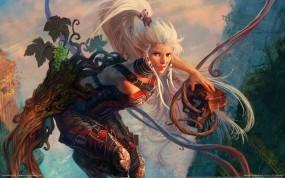 Обои Девушка эльфийка: Девушка, Dominance War, Воин, Эльфийка, Девушки из игр
