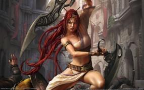 Обои Heavenly Sword: Девушка, Воин, Heavenly Sword, Девушки из игр