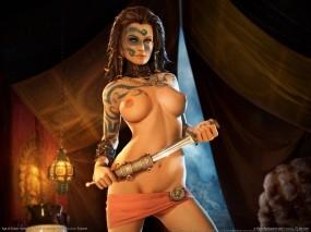 Обои Age of Conan: Age of Conan, Девушки из игр