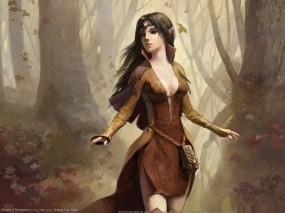 Обои Дева Огня: Эльфийка, Disciples, Девушки из игр