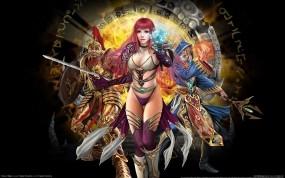 Обои Runes of magic: Трусики, Sexy, Волшебница, Руны, Online Game, Девушки из игр