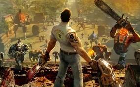 Обои Serious Sam 3: Монстры, Serious Sam 3, Бензопила, Другие игры