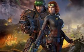 Обои Tabula Rasa на страже: Девушка, Солдат, Другие игры