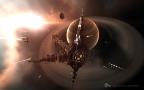 Обои EVE Online: Космос, Корабль, Станция, EVE Online, Другие игры