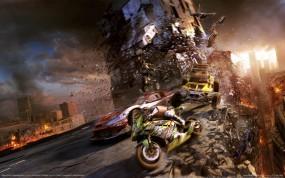 Обои Motorstorm 3: Город, Гонки, MotorStorm, Апокалипсис, Другие игры