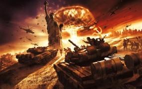 Обои World in Conflict: Война, СССР, World in Conflict, Америка, Статуя свободы, Другие игры