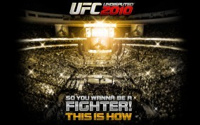 Обои UFC 2010: Драка, UFC 2010, Клетка, Ринг, Другие игры