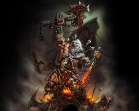 Обои Diablo 3: Воин, Меч, Diablo, Топор, Варвар, Другие игры