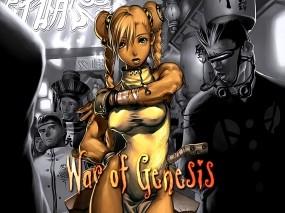 Обои War of genesis: Девушка, Киберпанки, Азиаты, War of Genesis, Другие игры