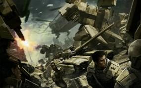 Обои Front Mission: Мех, Солдаты, Танк, Front Mission, Другие игры