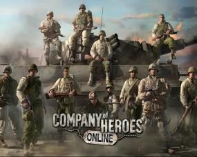 Обои Company of Heroes: Солдаты, Танк, Взвод, Company of Heroes, Другие игры