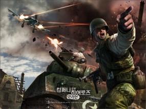Обои Company of Heroes: Самолёт, Танк, Солдат, Бой, Company of Heroes, Другие игры