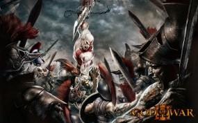 Обои Кратос в сражении: Смерть, Кратос, Сражение, Другие игры