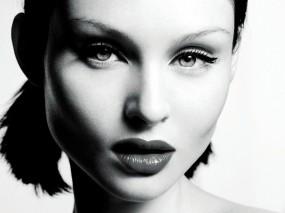 Обои Sophie Ellis Bextor: Губки, Чёрно-белая, Sophie Ellis Bextor, Красивые глаза, Девушки