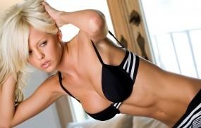 Обои Lindsay Marie: Нижнее бельё, Блондинка, Волосы, Lindsay Marie, Девушки