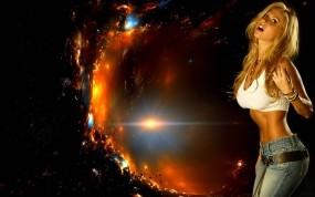 Обои Marzia Prince: Девушка, Космос, Marzia Prince, Девушки