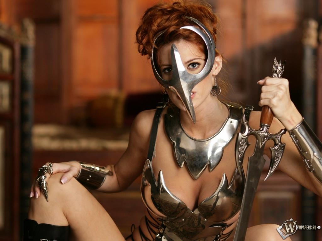 Девушка-воин 1024x768