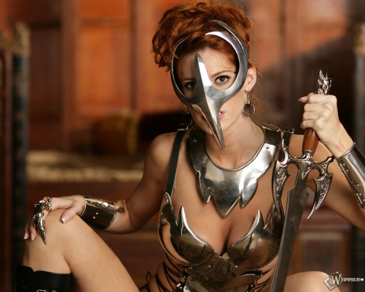 Девушка-воин 1280x1024