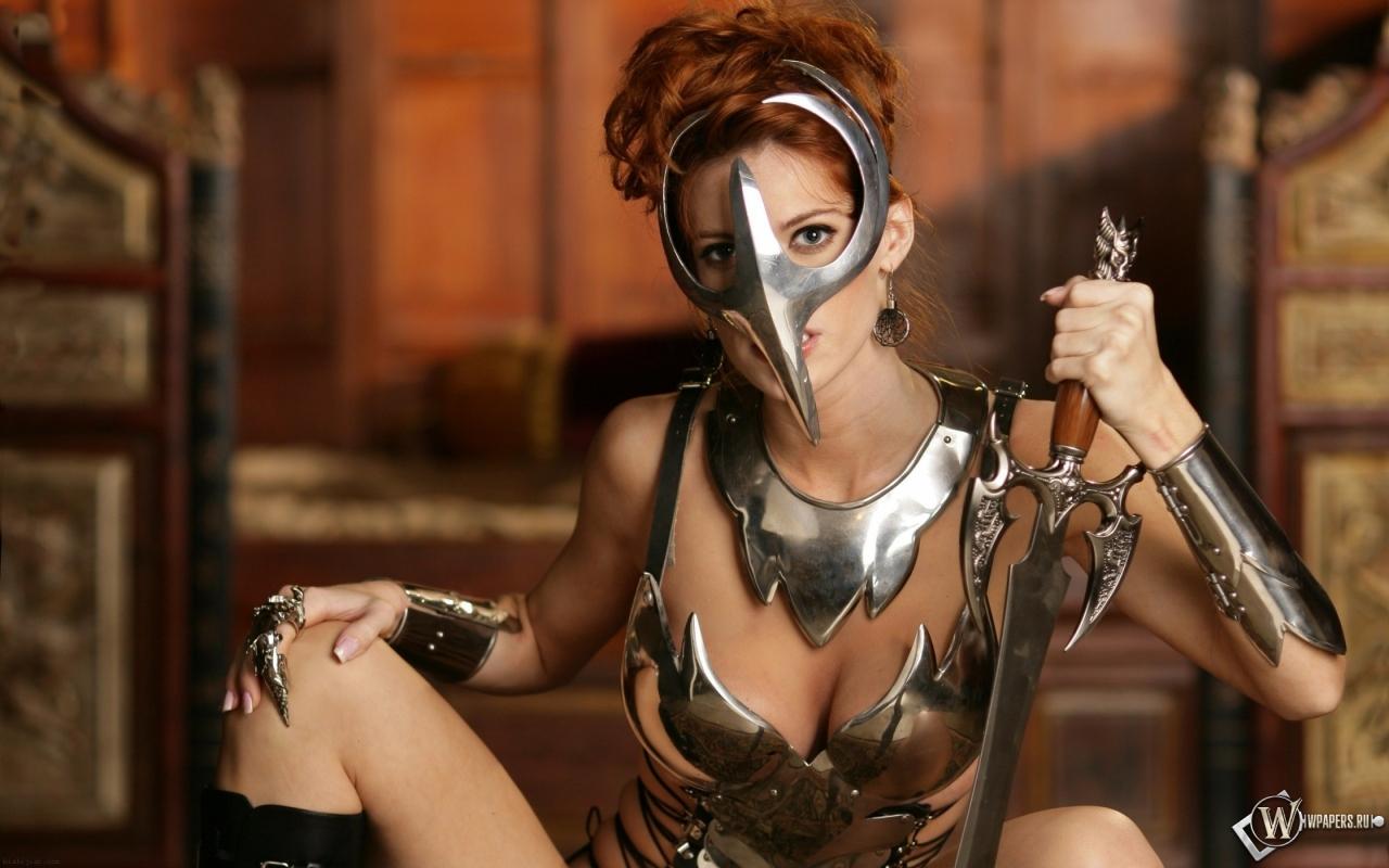 Девушка-воин 1280x800