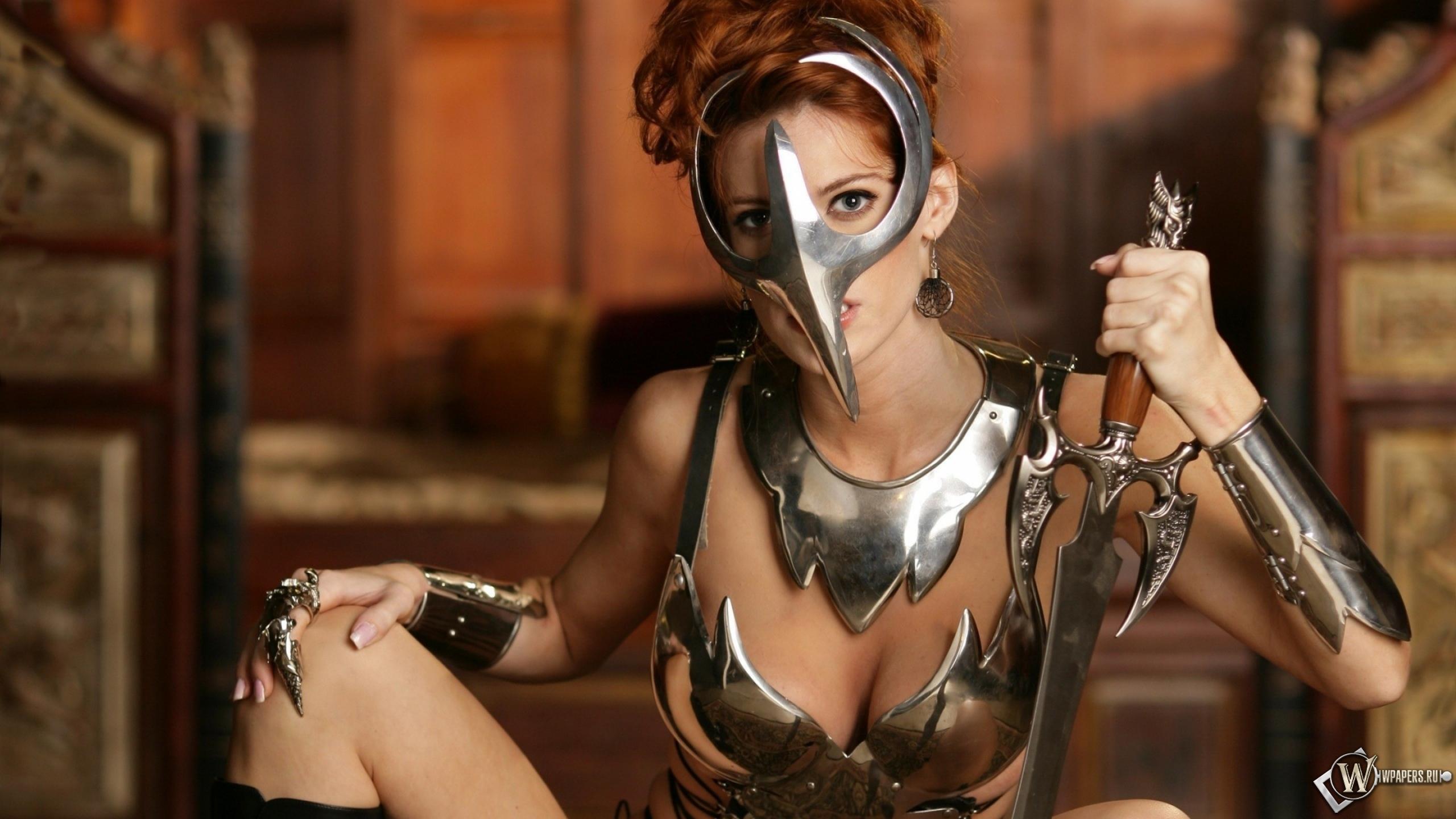 Девушка-воин 2560x1440