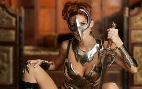 Обои Девушка-воин: Девушка, Воин, Маска, 3D Девушки