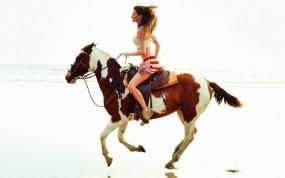 Обои Девушка на лошади: Девушка, Лошадь, Девушки