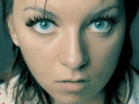 Обои Девушка с голубыми глазами: Девушка, Глаза, Портрет, Лицо, Девушки