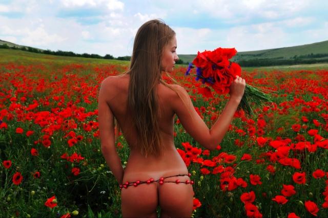Девушка в маковом поле