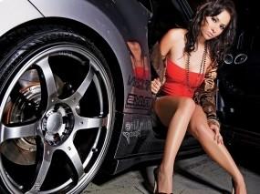 Обои Lana Lopez: Авто, Девушка, Брюнетка, Lana Lopez, Девушки