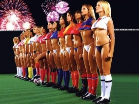 Обои Fantasy football: Спорт, Футбол, Девушки, Команда, Девушки