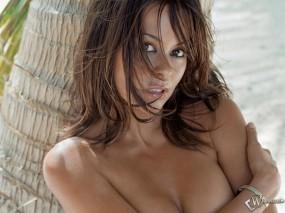 Девушка у пальмы