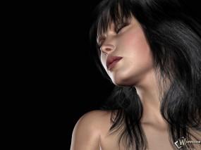 Обои Анимированная брюнетка: Брюнетка, 3D Девушки