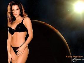 Обои Kelly Monaco: Чёрное бельё, Космос, Планеты, Ввселенная, Kelly Monaco, Девушки