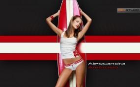 Обои Alessandra Ambrosio: Alessandra Ambrosio, Мокрые девушки