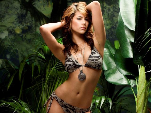 Karima Adebibe Bikini in Jungle