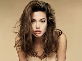 Обои Молодая Angelina Jolie: Взгляд, Angelina Jolie, Волосы, Angelina Jolie