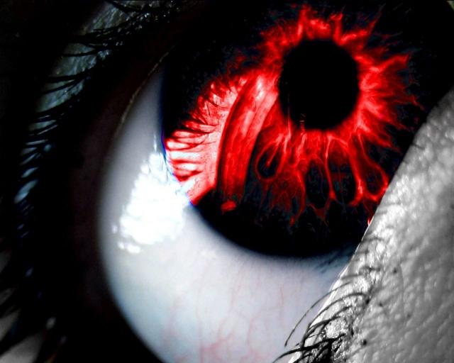 Красный глазик