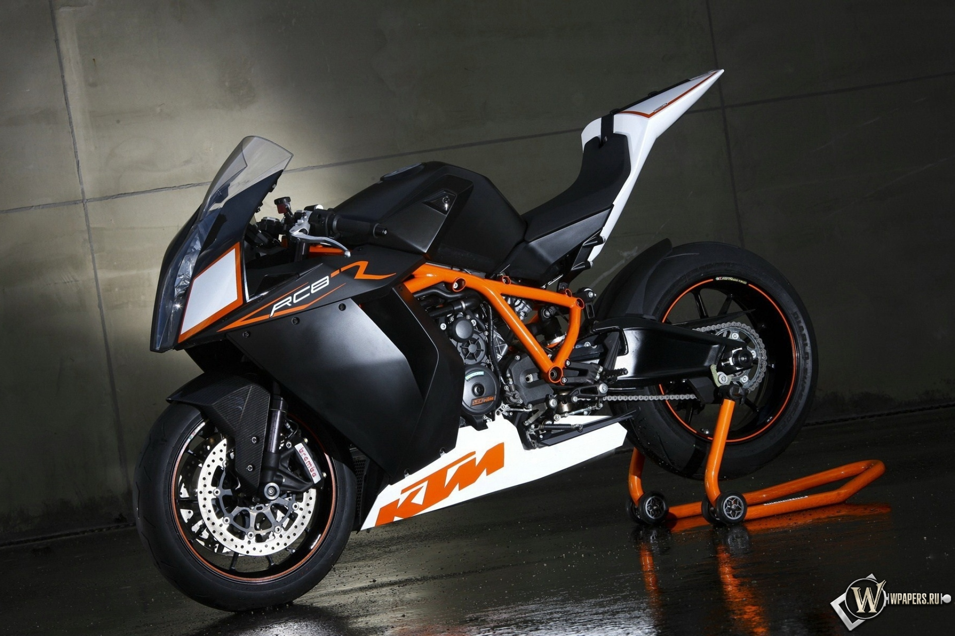 Обои KTM RC8, Мотоцикл, супербайк. Мотоциклы foto 11