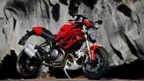 Обои Ducati: Мотоцикл, Скалы, Красный, Мотоциклы