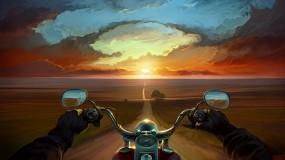Обои Свобода: Свобода, Дорога, Мотоцикл, Байкер, Мотоциклы