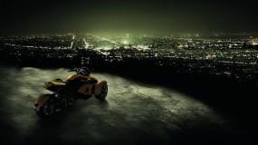 Обои Мото романтика: Город, Ночь, Мотоцикл, Мотоциклы
